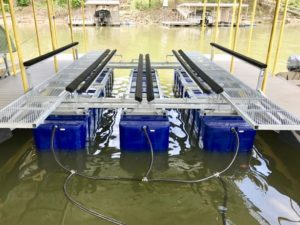 Tritoon Boat Lift | Boat Floater of Oklahoma | Boat Lift Dealer
