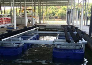 photo of a pontoon boat lift